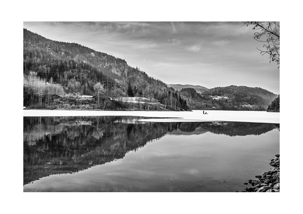 008 Ice fishing, Numedal, Norway, a3 print on Canon Premium Fine Art Smooth paper (Hahnemuhle 100% Cotton Rag 310g), printed on Canon Pixma Pro-1